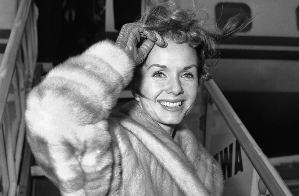 La actriz Debbie Reynolds, en Nueva York en 1959.