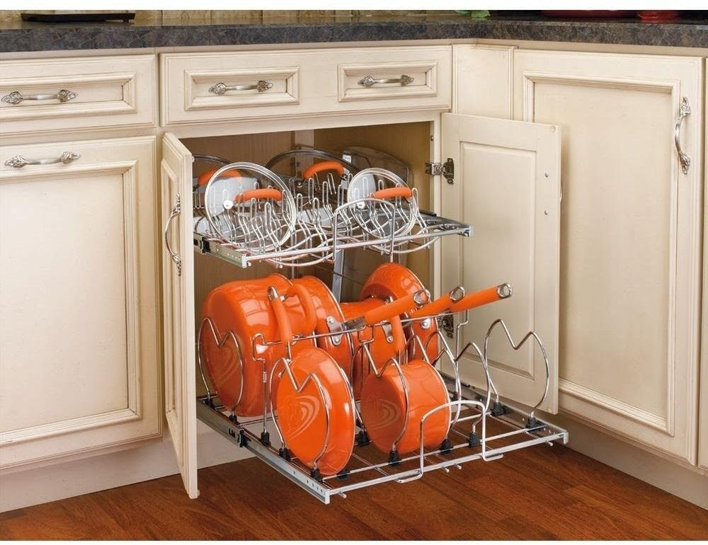 Kitchen Pull-Out Base Cabinet Cookware Organizer Rev-A ...