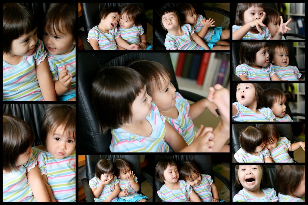 Nadine and Jolie, very loving and goofy together