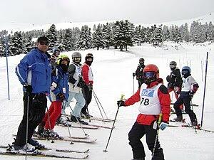 English: Ski mountaineers from Steiri, Boeotia...