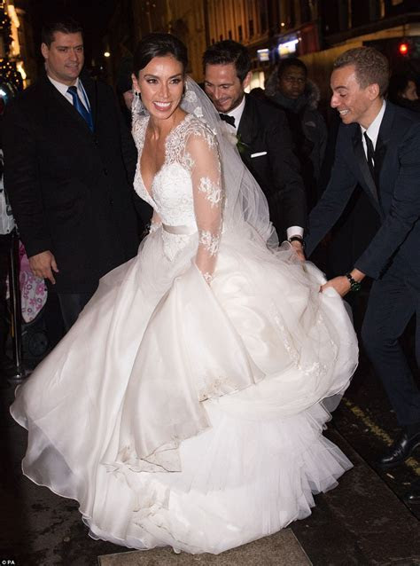 Christine Bleakley wears £10k dress to wedding to Frank