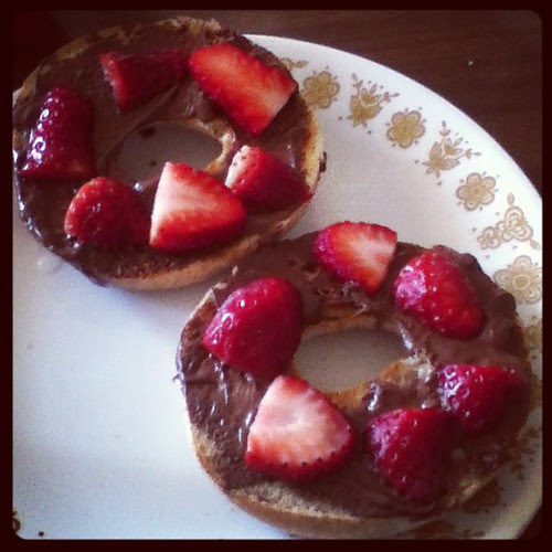 Nutella + strawberries <3