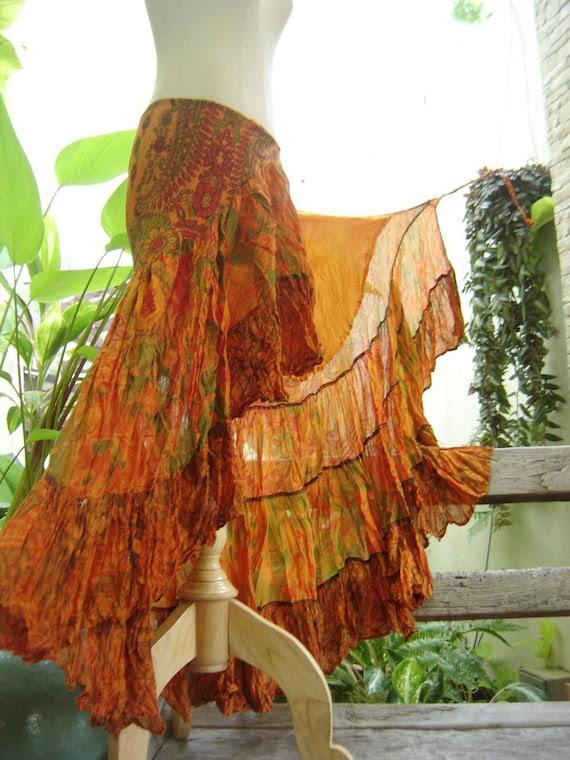 Ariel on Earth Ruffle Wrap Skirt - OR0705