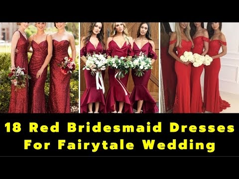 Red Bridesmaid Dresses For Fairytale Wedding | Wedding Dresses | Bridesmaids Dresses