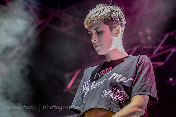 Claire L. Evans, vocals, YACHT, TBD Fest, 2014