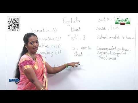 10th English Grammar Reported Speech Unit 5 Part 1 Kalvi TV