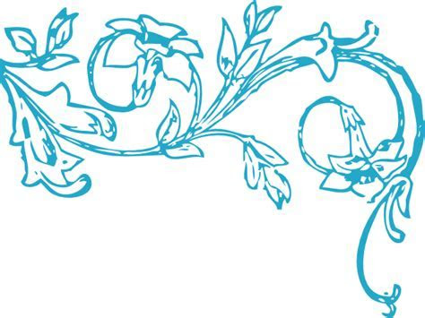 Blue Floral Vine Clip Art at Clker.com   vector clip art