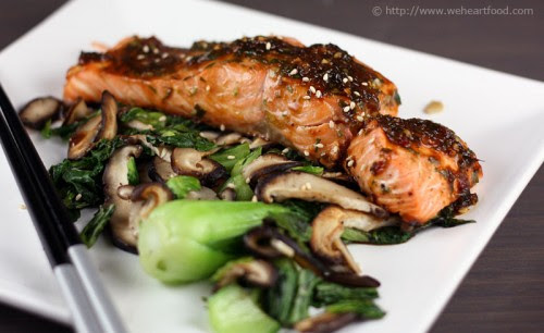 Bulgogi-Style Salmon with Bok Choy and Mushrooms » We ...