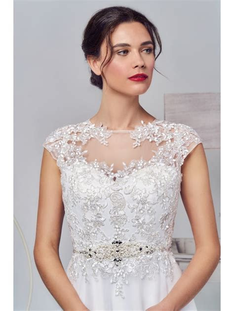 Phoenix Gowns 16259 Lace Top With Tulle Skirt Wedding