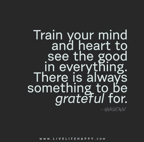 Train Your Mind And Heart To See The Good In Everything There Is