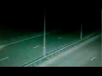 animal extraño o fantasma visto en la carretera¡