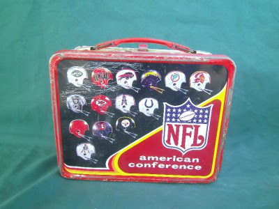 1976 NFL NATIONAL CONFERENCE FOOTBALL VINTAGE LUNCH BOX V. GOOD CONDITION METAL  eBay