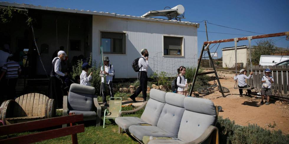 Asentamiento de Amona, en Cisjordania.
