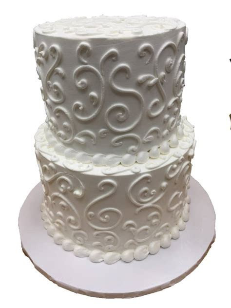 Two Tier Cake   Lace   Aggie's Bakery & Cake Shop