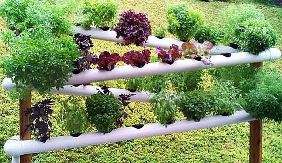 FabArtDIY PVC Gardening Ideas and Projects PVC Verticle Planter2