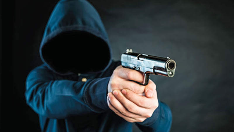 Robbers steal firearms from bank