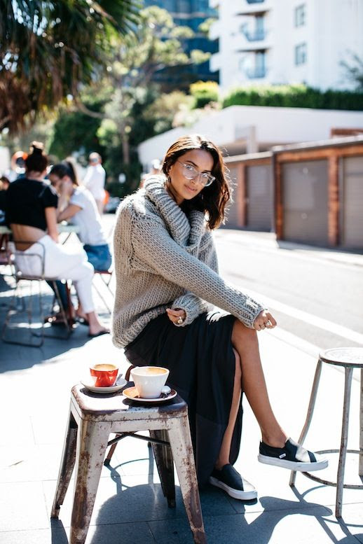 Le Fashion Blog Casual Style Clear Glasses Chunky Turtleneck Sweater Maxi Skirt Vans Sneakers Via She Be The Sound