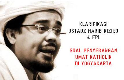 Media Nasional Tuding Fpi Pelaku Penyerangan Yogya Ini Bantahan Ust Habib Rizieq Voa Islam Com
