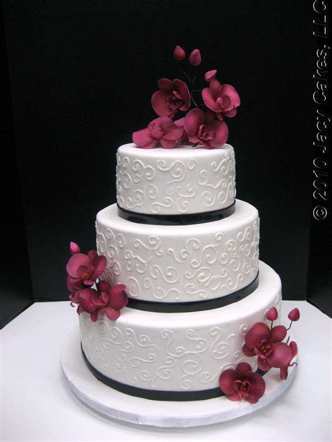 News from Jacy Cakes: Orchids & Swirls Wedding Cake