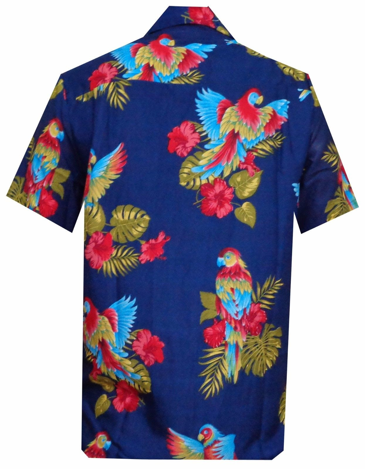 hawaiian shirt mens parrottoucan print beach aloha party