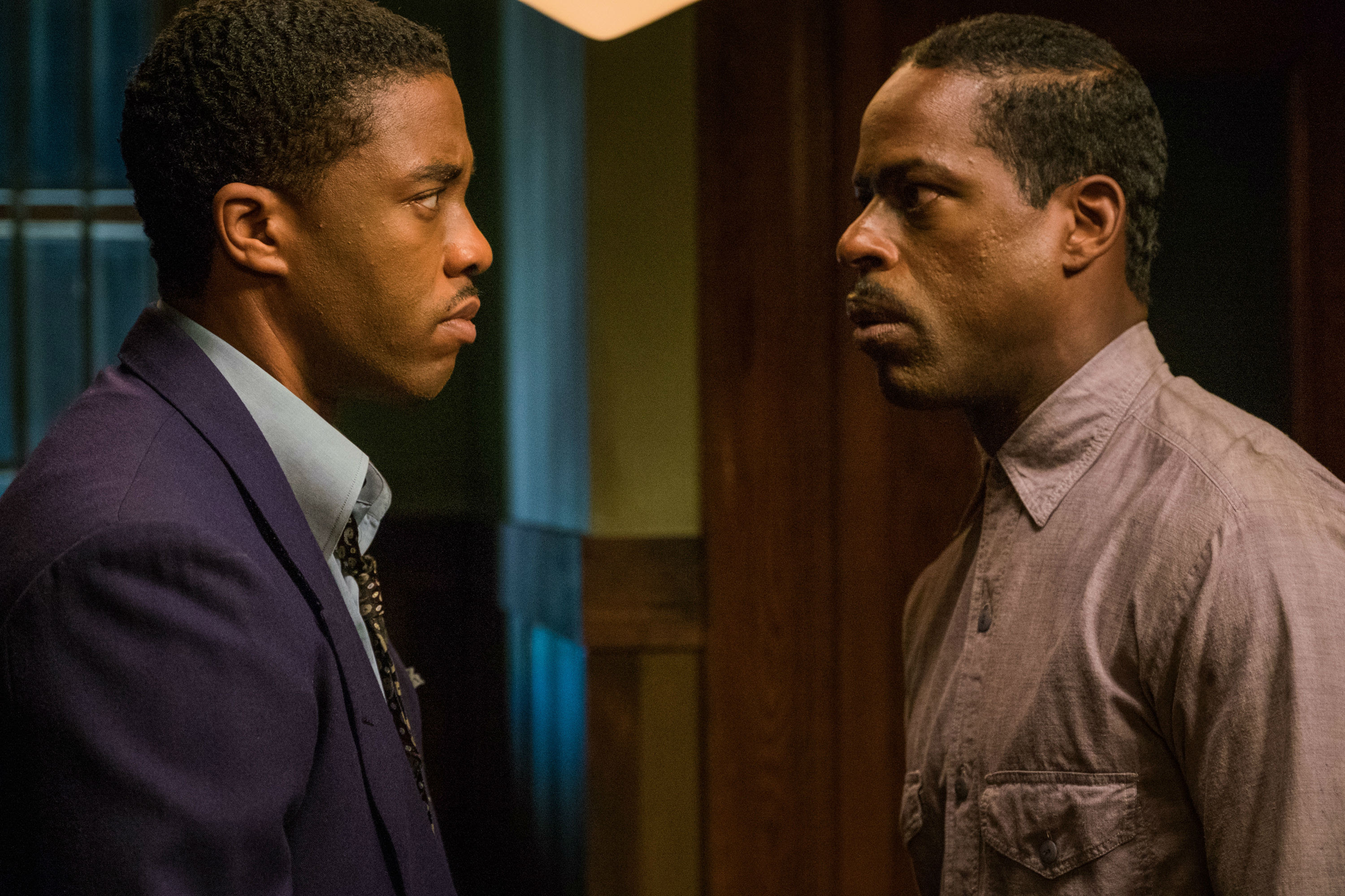 Image result for chadwick boseman and sterling k brown