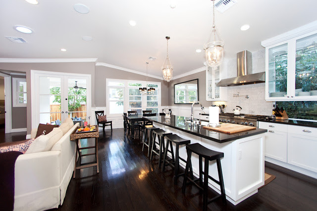 Awesome Kitchen Floor Plans with Various Kitchen Objects ...