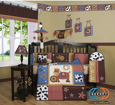 Western Cowboy Baby Bedding for the Nursery