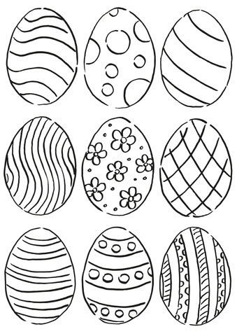 easter eggs pattern coloring page  free printable coloring pages