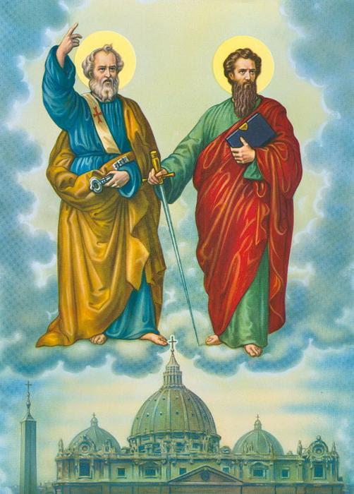 Hai thánh cột trụ của Giáo hội: Phêrô và Phaolô