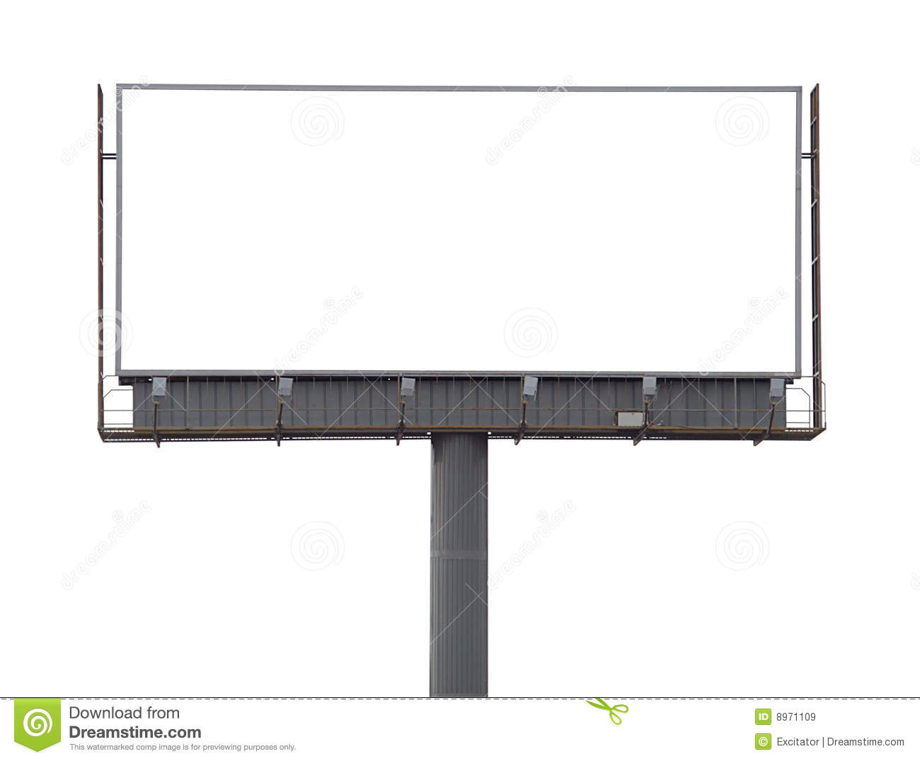 Transparent Billboard Royalty Free Stock Photography - Image: 13961887