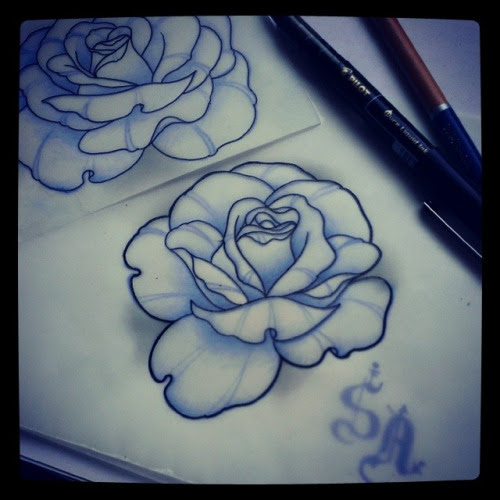 How To Draw A Neo Traditional Rose Astar Tutorial