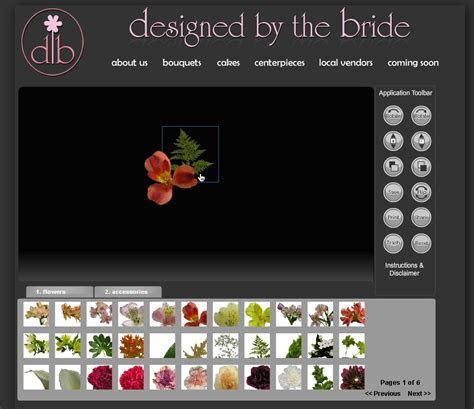 Online Virtual Wedding Bouquet Design   Pixel & Ink
