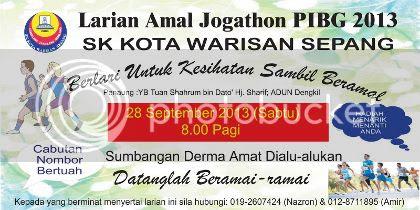 Larian Amal Jogathon SK Kota Warisan