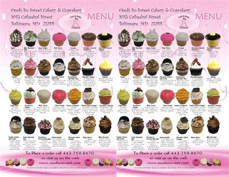 newest cupcake flavors   OOOh So Sweet Cakery and
