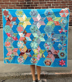 Lououthi hexies, English paper piecing