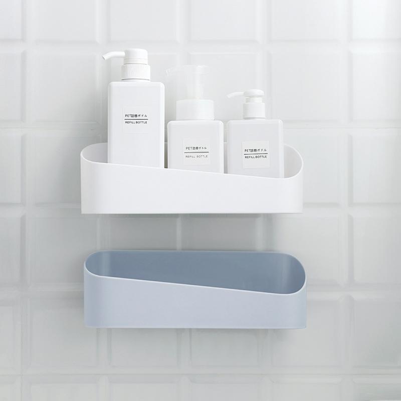 Ideas For Bathroom Wall Shelf With Baskets Photos