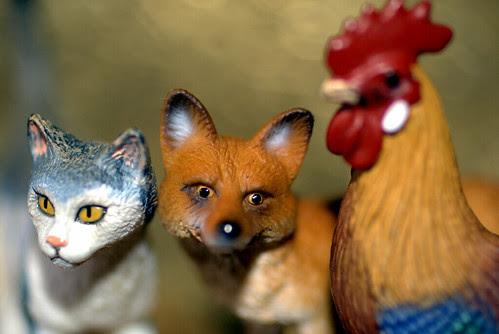 El gato, el zorro y el gallo