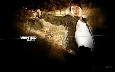 James McAvoy WANTED movie wallpaper