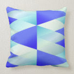 Blue Gradient Abstract Triangles Pillow