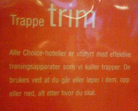 hotel sign :: oppslag ved heisen