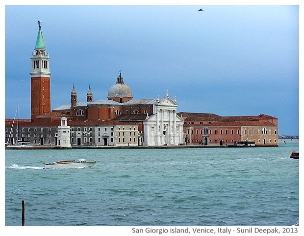 Venice walking tour, San Giorgio, Italy - images by Sunil Deepak