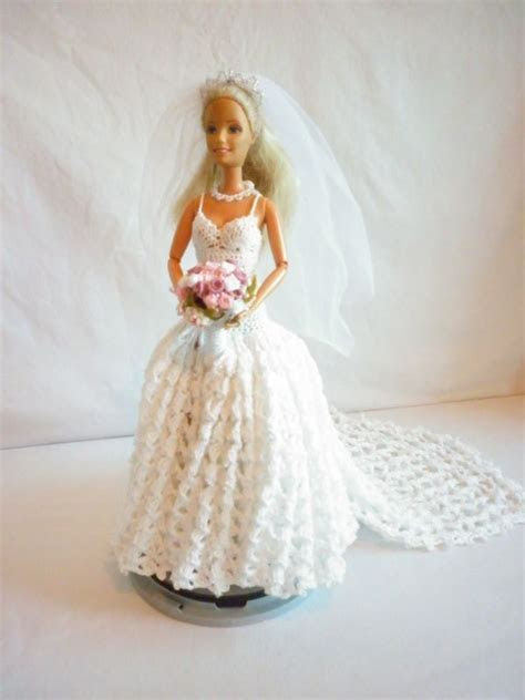 Boo Bear's Crochet Barbie Wedding Dress   My Barbie