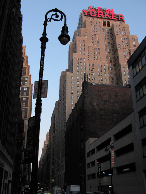 a lamppost near the New Yorker Hotel, Manhattan, NYC
