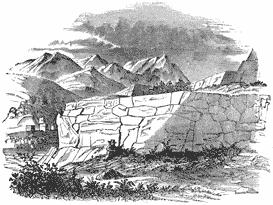 View of masonry wall