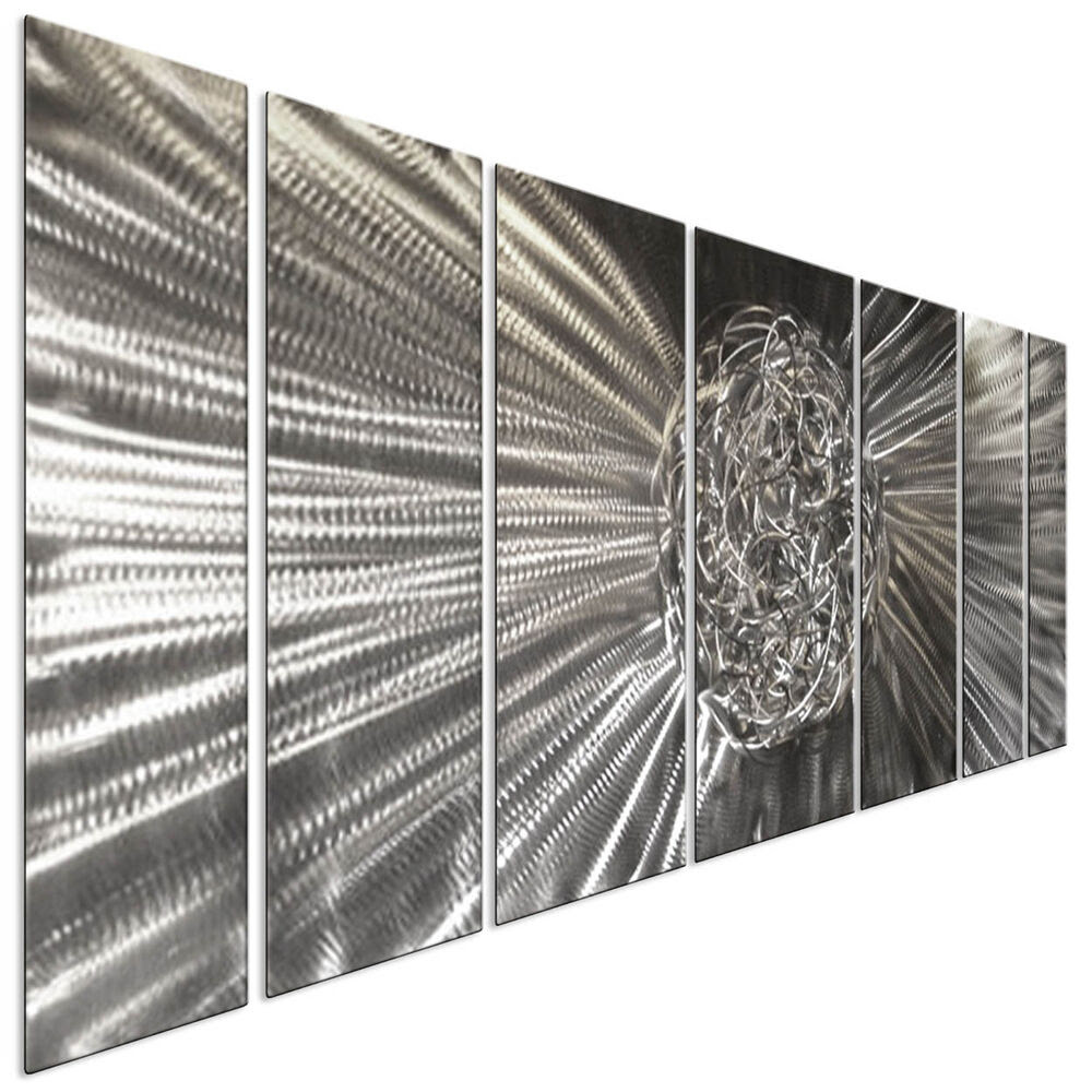 Contemporary Metal Wall Art Knot Silver 3D Wall Decor by ...
