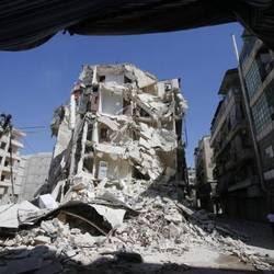 Aleppo bombardata