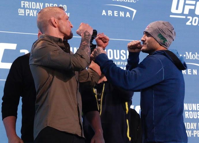 TJ Dillashaw e John Lineker UFC 207 (Foto: Evelyn Rodrigues)