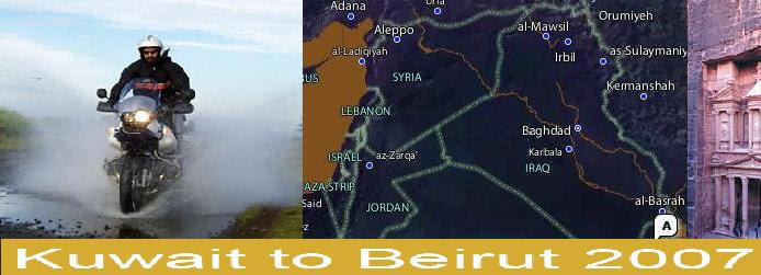 Kuwait to Beirut on a BMW R1150GS