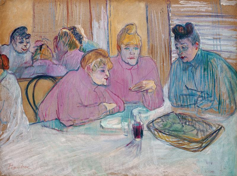 Henri  Toulouse-Lautrec The ladies in the brothel dining-room