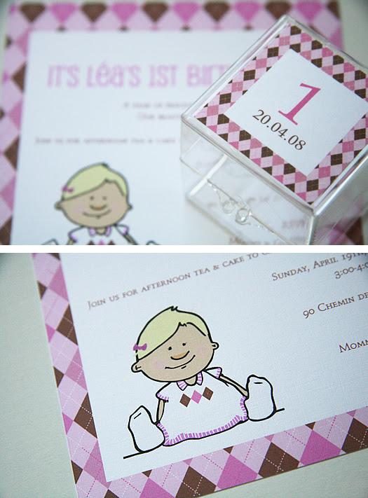invitation and favour box